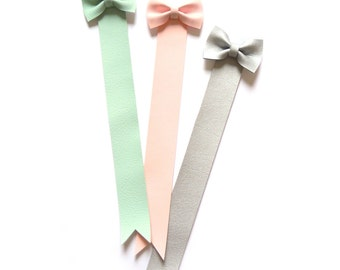 MINT BOW BOOKMARK, bookmark with pastel mint bow