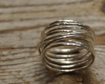 Sterling silver twiglet ring