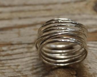 Sterling silver twiglet ring