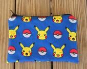 Reusable Snack Bag, Pokemon, Pikachu - ZIPPER Snack Bag