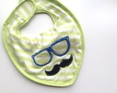 Hipster boys bib set elephant hipster unique appliqué baby shower