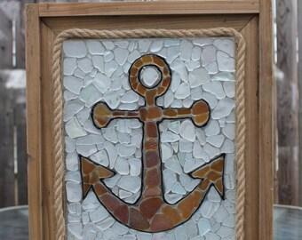 Anchor Sea Glass Mosaic