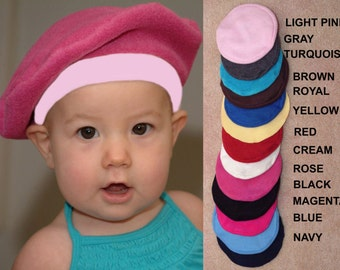 French Beret for Baby, Toddler, Kids CHOOSE COLOR French Beret Kids Costume Kids French Beret Outer Wear Photo Prop Newborn Baby Shower Gift