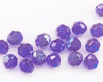 24 gorgeous Swarovski crystals - art 5000 - 6 mm - rare discontinued color cobalt AB