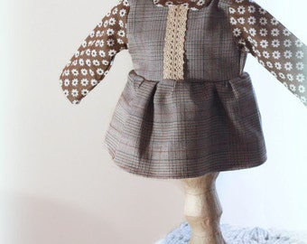 18 inch doll clothes, waldorf doll clothes doll shirt doll tunic top 18 inch doll tunic doll blouse doll outfit doll top doll peasant top