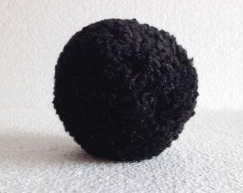 1 pcs yarn pom poms, 80 mm black pom poms, pom pom decoration decor, cotton handmade, Pom pom ball , pom poms yarn, wide 8 cm
