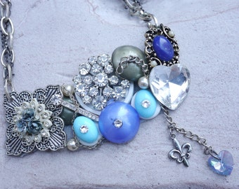"Statement Necklace ""Blue Dream"""