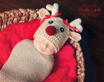 Rudolph inspired hat