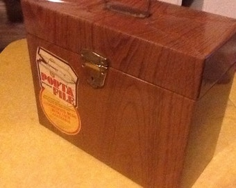 File Box Metal Locking Vintage Home office