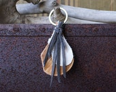 Fringed, Leather Boho Key Fob