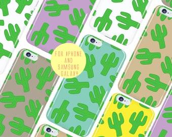 Cactus Phone Case Color Options iPhone 7 Plus Case Cartoon iPhone 6s Case Cactus Samsung Galaxy s6 Case Cactus Pattern Galaxy s7 Edge Cover