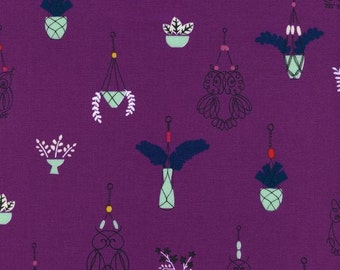 Macrame - Hang It Up in Grape - Rashida Coleman-Hale for Cotton + Steel - 1928-1