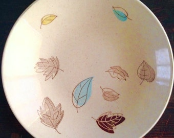 1950s Serving Bowl by Royal China - Falling Leaves
