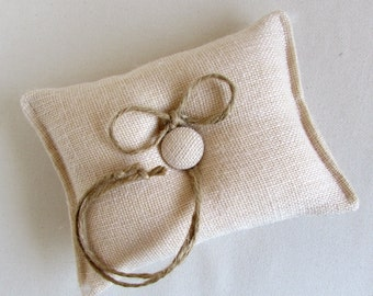 the CLASSIC burlap ring bearer pillow in BLUSH