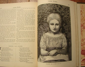 1886 childrens book, Little Folks magazine, New & Enlarged, heavily illustrated-wonderful insight into Victorian era