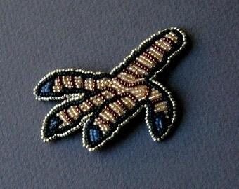 BIRD CLAW bead embroidery