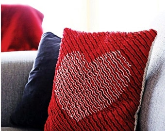 PDF Pattern: Chenille Heart Cushion (Beginner Friendly)