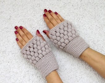 Crochet fingerless gloves, crochet mittens, autumn gloves, fingerles mittens, hand knit fingerles, arm warmers, boho mittens, knitted gloves