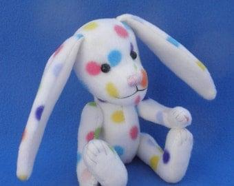 Confetti - Polka dot Easter Bunny, Artist soft sculpture rabbit, plush rabbit