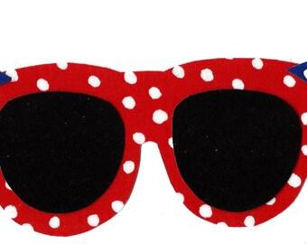 Summer sunglasses iron on applique DIY