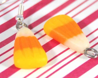 candy corn earrings halloween earrings halloween candy kawaii polymer clay miniature food jewelry polymer clay food earrings candy earrings