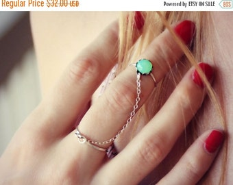 FALL SALE mint opal slave ring in sterling silver, midi ring,  opal knuckle ring, midi ring, minimalist ring, stacking ring, hammered ring