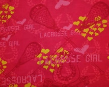 Snuggle Flannel Prints - Lacrosse Girl - Sold by the Yard