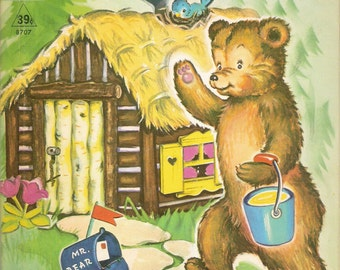 Mr Bear's House Vintage Rand McNally Tip Top Elf Book Illustrated by Clare McKinley