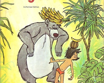 Walt Disney The Jungle Book Vintage Whitman Tell a Tale Book Adapted from Rudyard Kipling Illustrated by the Walt Disney Studio