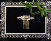 Crystal Decorative Wedding Comb, Wedding Decorative Comb, Clover Bridal Hair Comb #GD1067