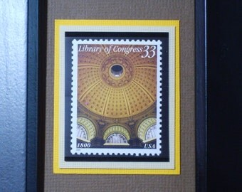 Library of Congress - Framed Postage Stamp - No. 3390