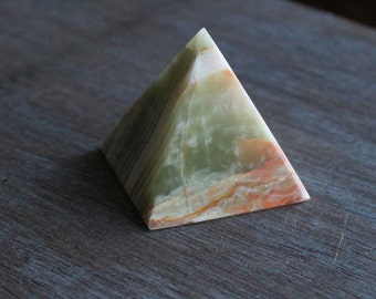 Yellow Onyx Two Inch Pyramid #24251