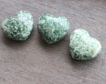Tree Agate Large Puffy Heart J57