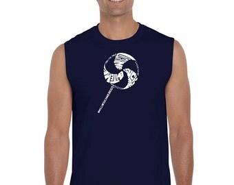 Men's Sleeveless Shirt - Lollipop