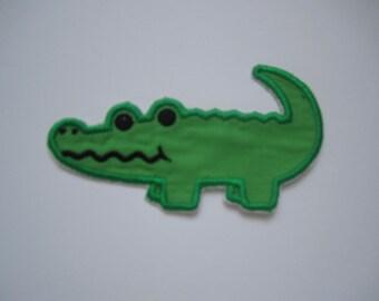 alligator iron-on/ sew-on patch/ embroidered alligator/ crocodile/ Florida