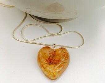 Handmade Heart Fox pendant