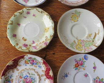 Selection of vintage china Saucers