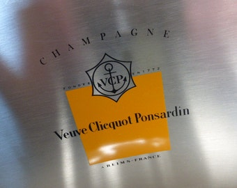 Veuve Clicquot Champagne Ice Bucket, Cooler. Rare Modernist Design.