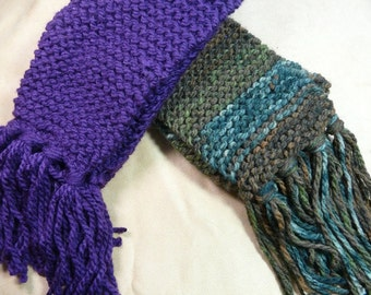 Hand-Knitted Acrylic Neck Scarves