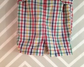vintage plaid shortalls jonjon overalls by imp originals size 3T 4T