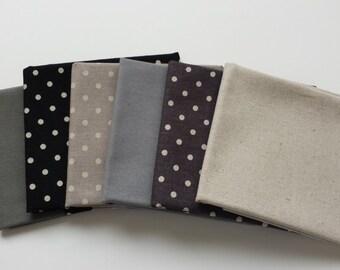 Fat Quarter Bundle – Linen Mochi Dot fabric - Moda Fabric - 6 pcs