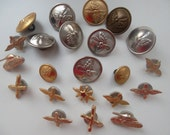 rare USSR soviet army military stuff - metal buttons, Red army insignia