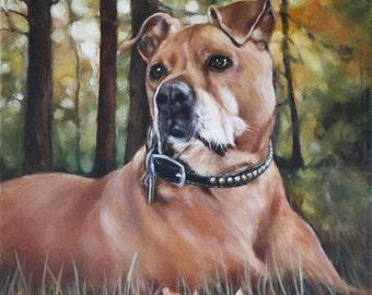 Custom Pet Portrait, Oil Painting, Pet Portrait, Portrait Commission, Animal Portrait, 12x12
