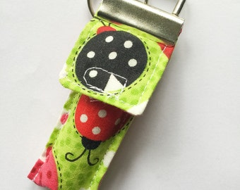 Keychain Chapstick Holder in lady bugs