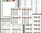 Christmas Cheer Bunco Printable Set, Christmas Bunco Score Cards & Tally Sheet, Instant Download, Editable Bunco Invites