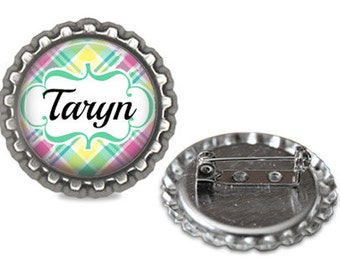 Personalized Pin Brooch Bottle Cap Party Favor Birthdays Reunions Events