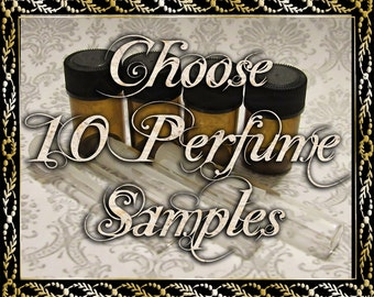 Artisan Perfume Samples: Choose Ten (10) 1mL or 2mL Samples, Perfume Oil, Cologne Oil, Apothecary Fragrance, Ships Out in 4-7 Days