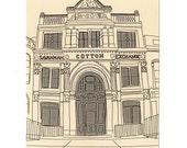 Savannah Postcards, SCAD Drawings, Souvenir, Georgia