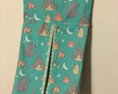 CLEARANCE SALE - Handmade Baby Diaper Stacker, Camping, Teepee, nursery
