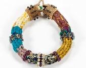 Muliticolor Beaded Bracelets, Woven Bangles, Ethnic Bead Tribal, Handmade, Bohemian, African Style , Bracelet for Women, Unique Beadwork